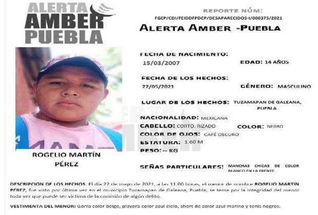 Emiten Alerta Amber para localizar adolescente en Tuzamapan de Galeana