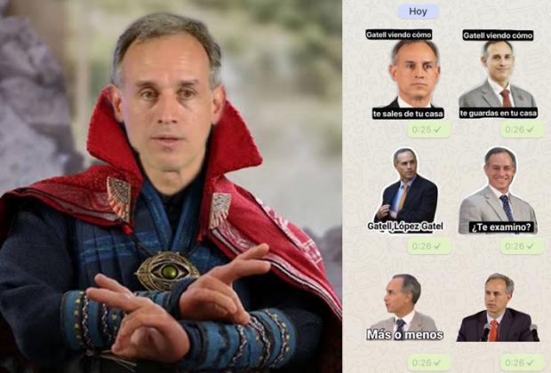 Se hacen virales los nuevos stickers del Dr López Gatell