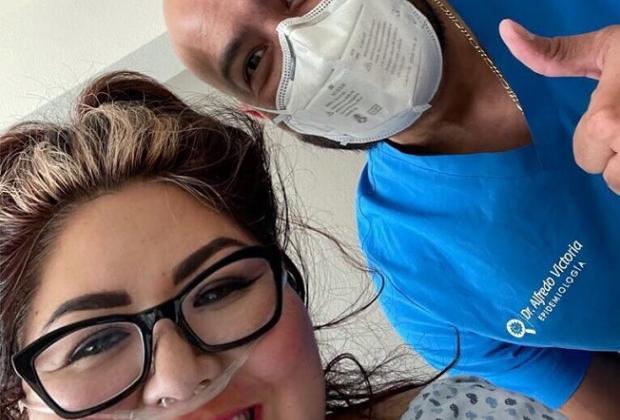 Genoveva Huerta llega al hospital por segundo contagio de Covid