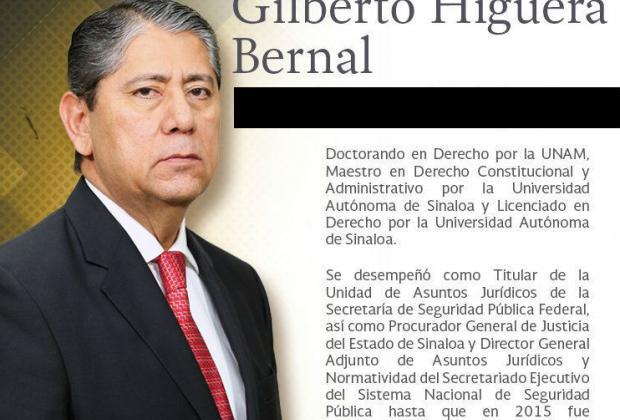 Nombra Congreso a Gilberto Higuera Bernal fiscal por siete años