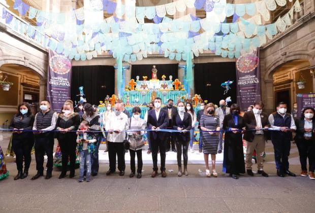 Inauguran corredor metropolitano de ofrendas en Puebla