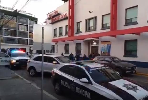 Realizan operativo en Colegio Americano ante amenaza de tiroteo