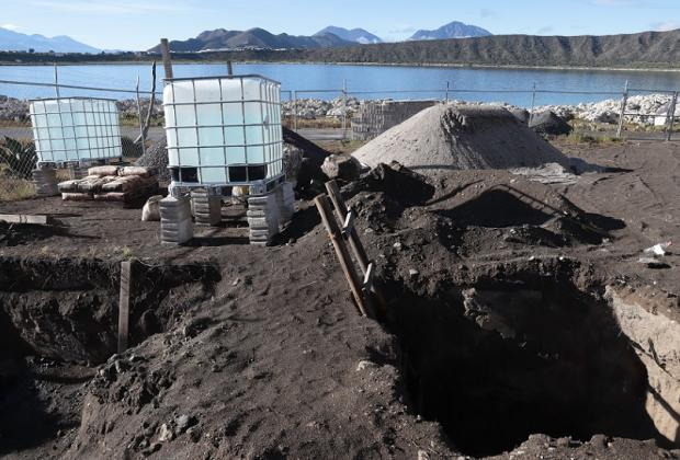 Tras dañar arrecifes, vigila Puebla obras en Laguna de Alchichica
