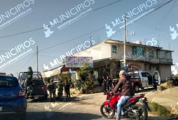 Retienen y desarman a policías estatales en Texmelucan