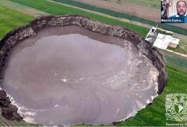 Causaron agua subterránea y erosión socavón poblano: UNAM