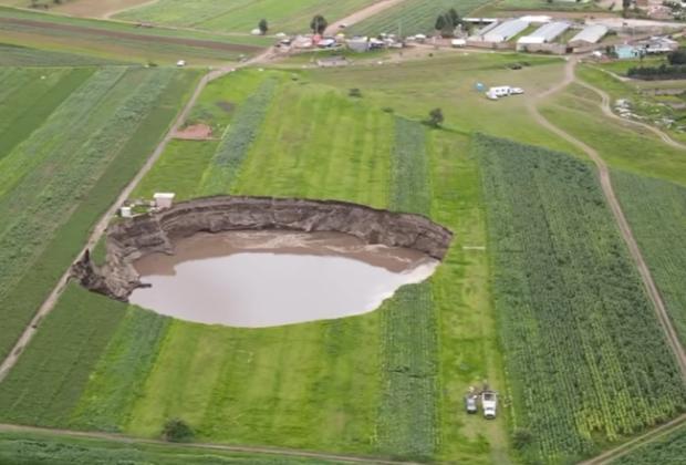 Zona del socavón, de potencial peligro geológico, advierten
