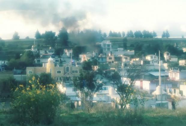 VIDEO Se registra explosión en Tlalancaleca por huachigas