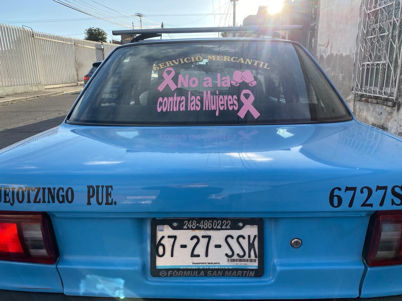 Taxistas y negocios se convierten en puntos seguros en Huejotzingo y Texmelucan
