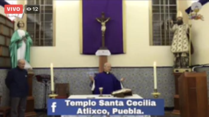 Por coronavirus, realizarán misas en Facebook en Atlixco