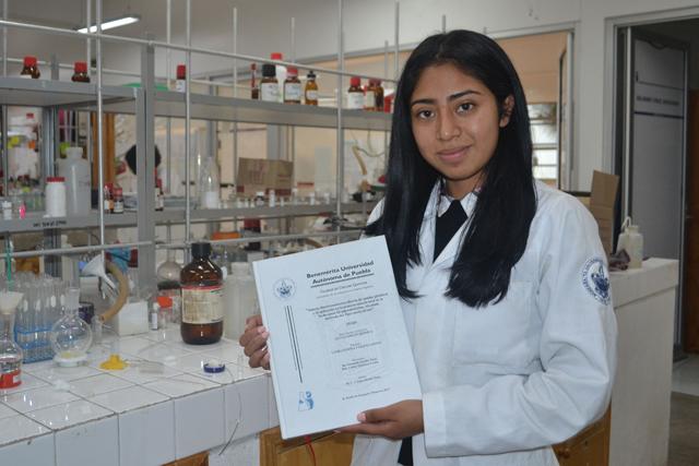 Estudiante de la BUAP gana Premio a Mejor Tesis en Ciencias