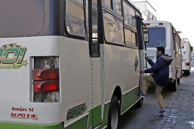Realizan operativo contra transporte irregular en Puebla, Serdán y Tehuacán