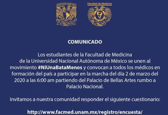 Convoca UNAM a marcha nacional en apoyo de estudiantes de la BUAP