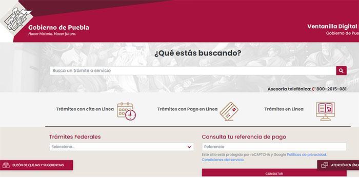 Con ventanilla digital, en Puebla obtienes desde constancias hasta licencia de manejo