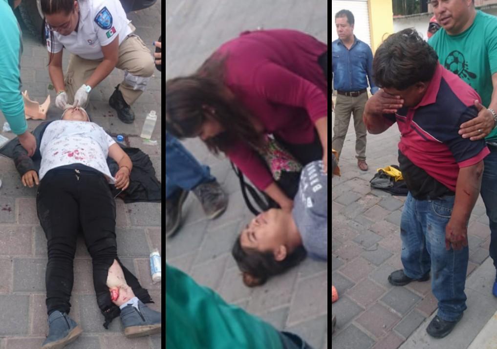 Atropella a una familia en moto y se fuga en Tecamachalco