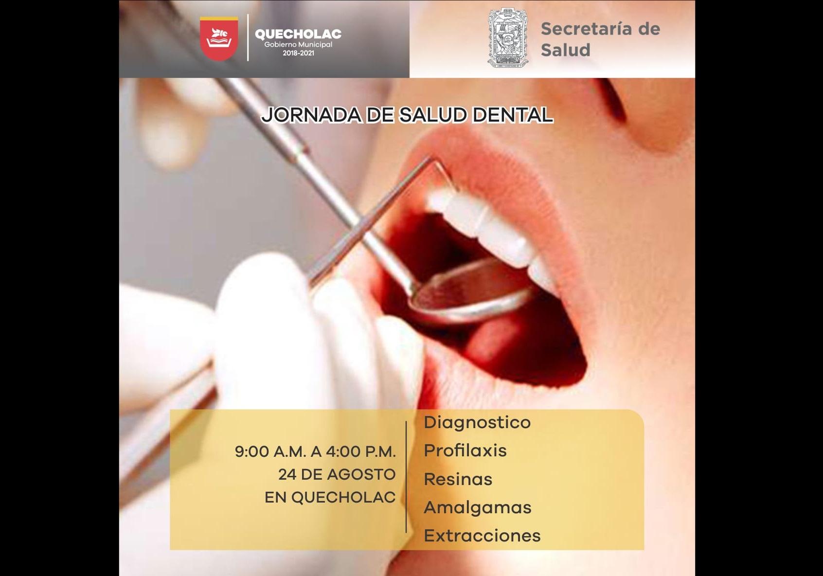 Realizarán jornada gratuita de salud dental en Quecholac
