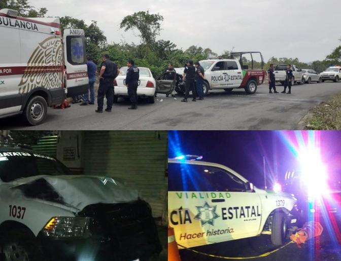 La 4T les da patrullas nuevas y policías las chocan en Puebla