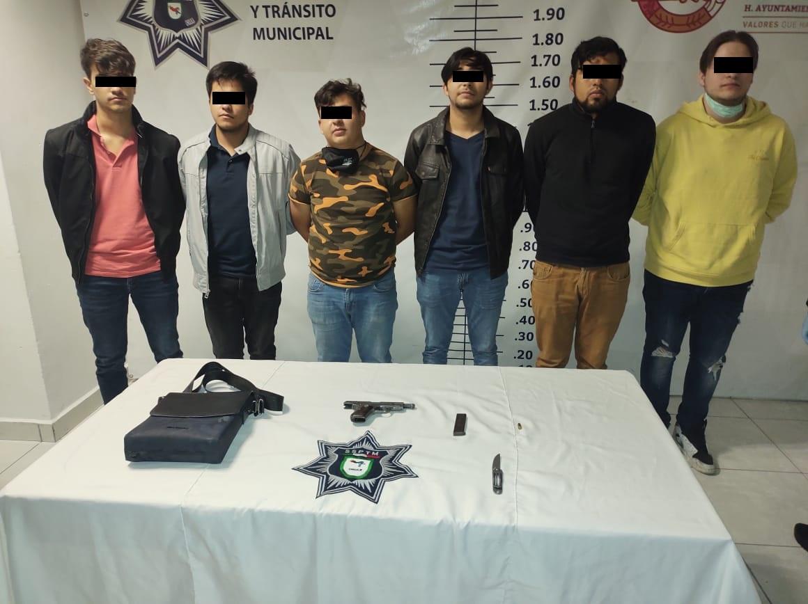 SSPTM detiene a 6 por portación de arma de fuego en Cholula