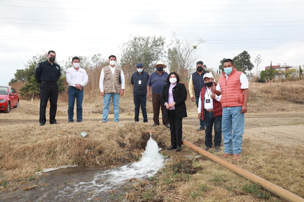 Entregan pozo rehabilitado a junta auxiliar de San Andrés Cholula