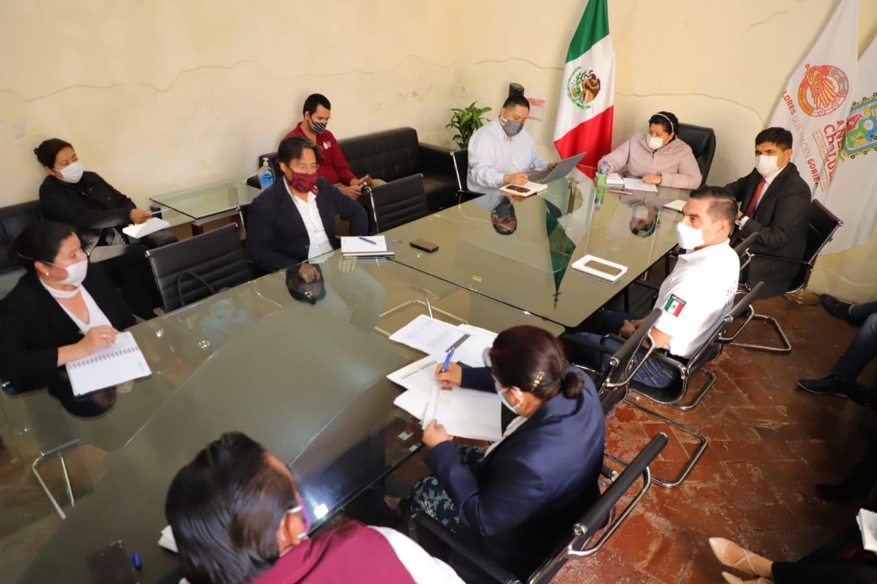 Fijan primeras acciones para reactivación económica en San Andrés Cholula