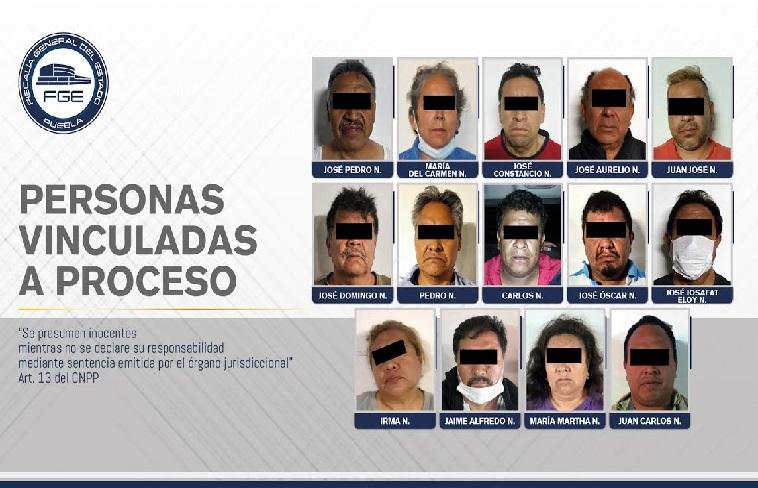 Vinculan a proceso a 14 detenidos en Amozoc