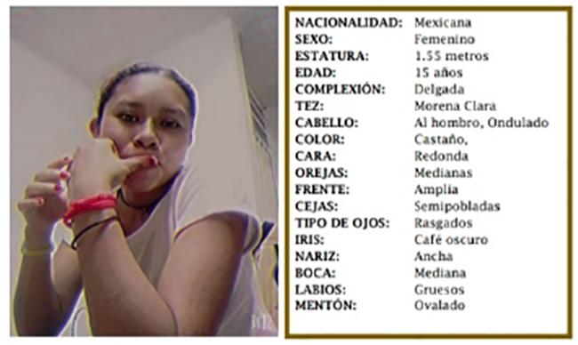 Xóchitl de 15 años desapareció en la Romero Vargas en Puebla