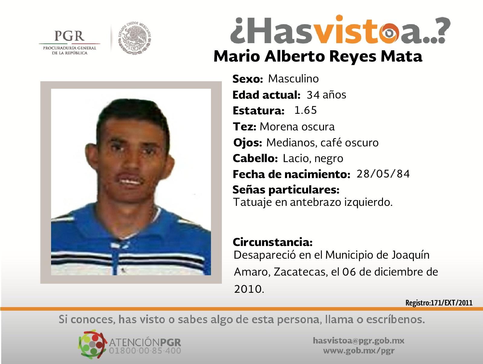 Ayúdanos a localizar a Mario Alberto