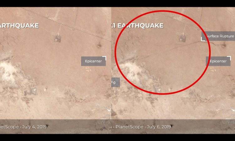Grieta que dejó terremoto en California se ve desde el espacio