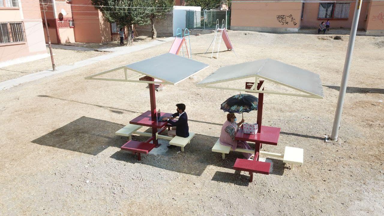 Entregan 9 módulos de trabajo comunitario en periferia de Puebla