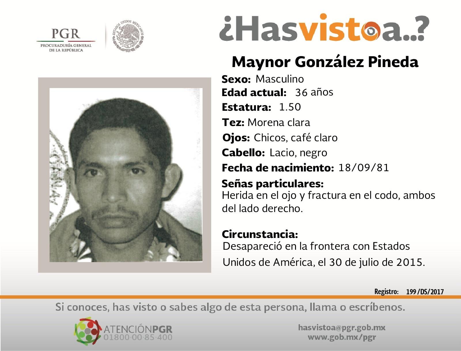 Ayúdanos a localizar a Maynor González