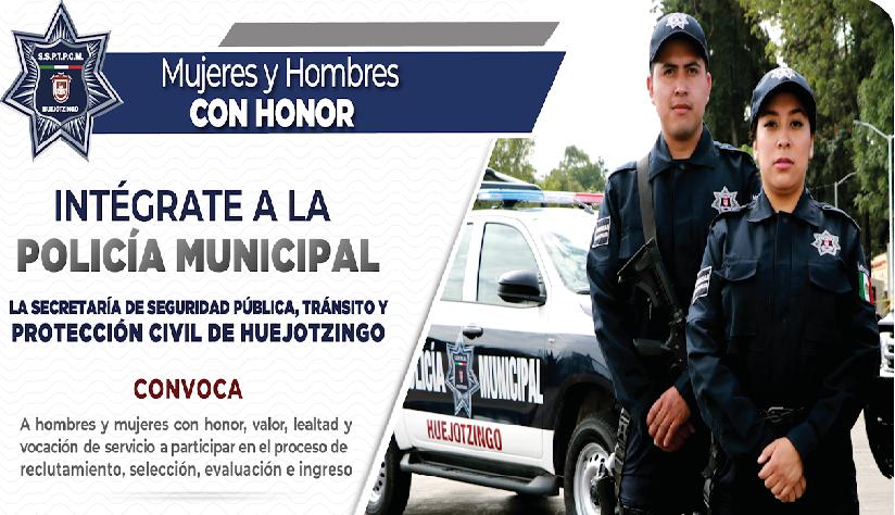 Está abierta la convocatoria para la policía municipal de Huejotzingo