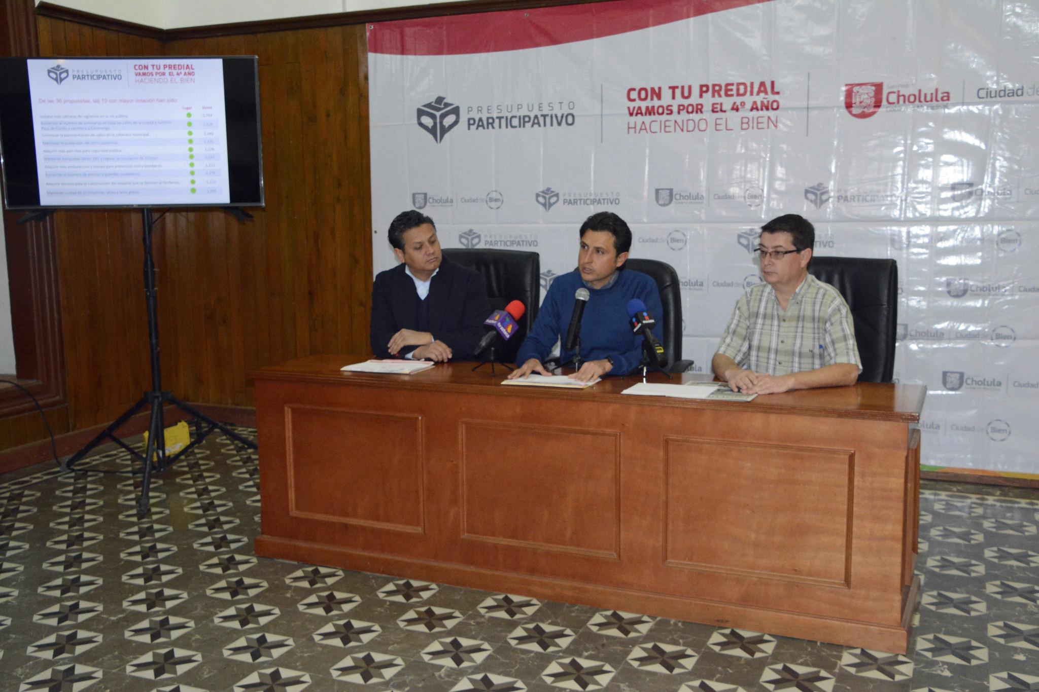 Invertirán 110 mdp  en Presupuesto Participativo de Cholula
