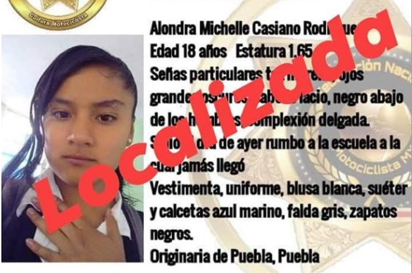 Localizan a Alondra, su compañera Josselin sigue desaparecida