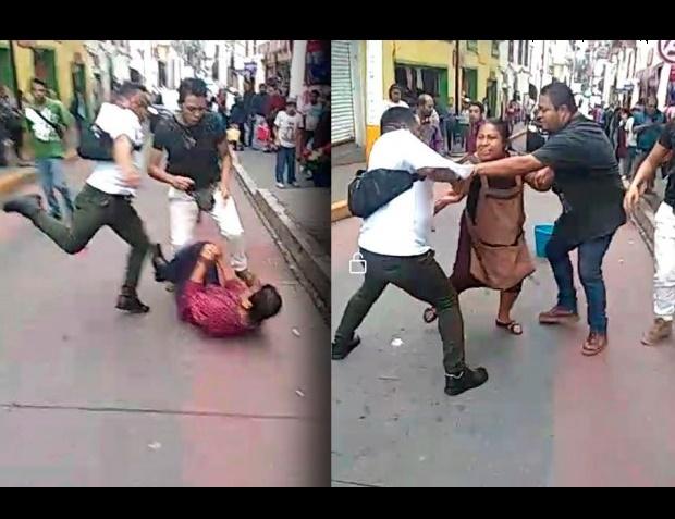 Por unos quelites, inspectores golpean a indígenas en Huauchinango