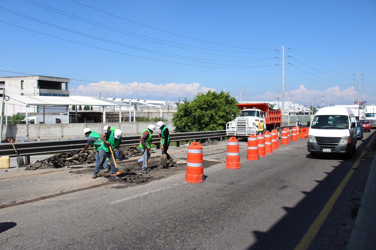 Caos en la autopista México-Puebla con sentido a Veracruz