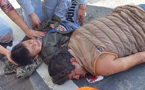 Su esposo e hijo mueren atropellados en El Verde; ella se salvó