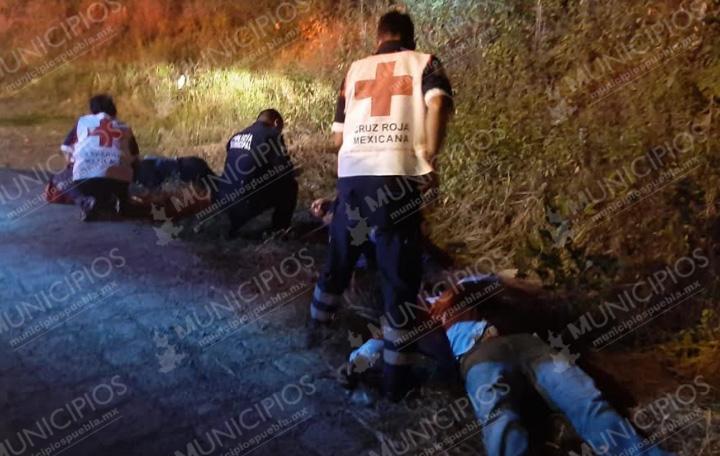 Choque en Huauchinango deja 10 heridos y miles de pesos en daños
