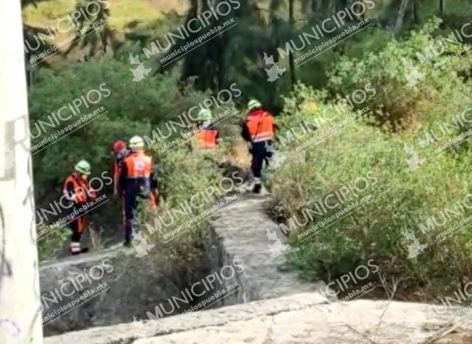 Abuelito desaparece y lo hallan en barranca en Bosques de San Sebastián en Puebla