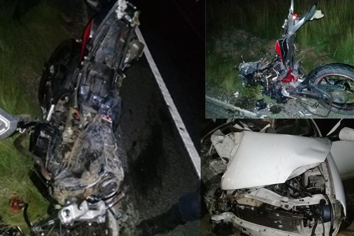 Mueren atropellados 2 motociclistas en la Federal El Seco Esperanza