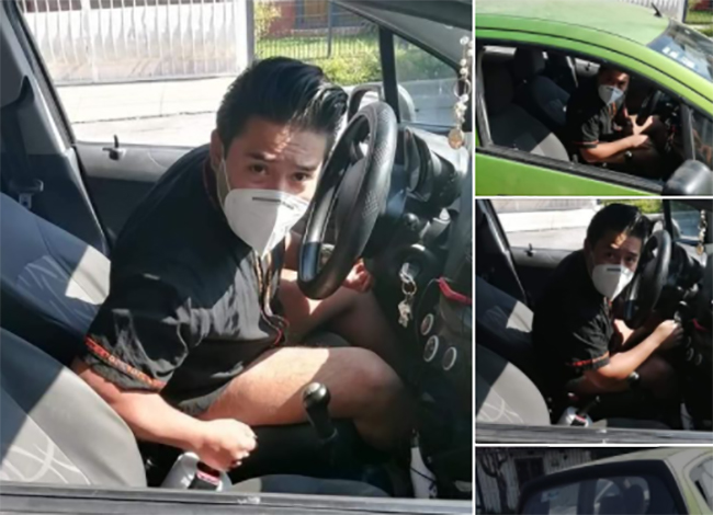 Difunden fotos de acosador de mujeres que se masturba en su auto