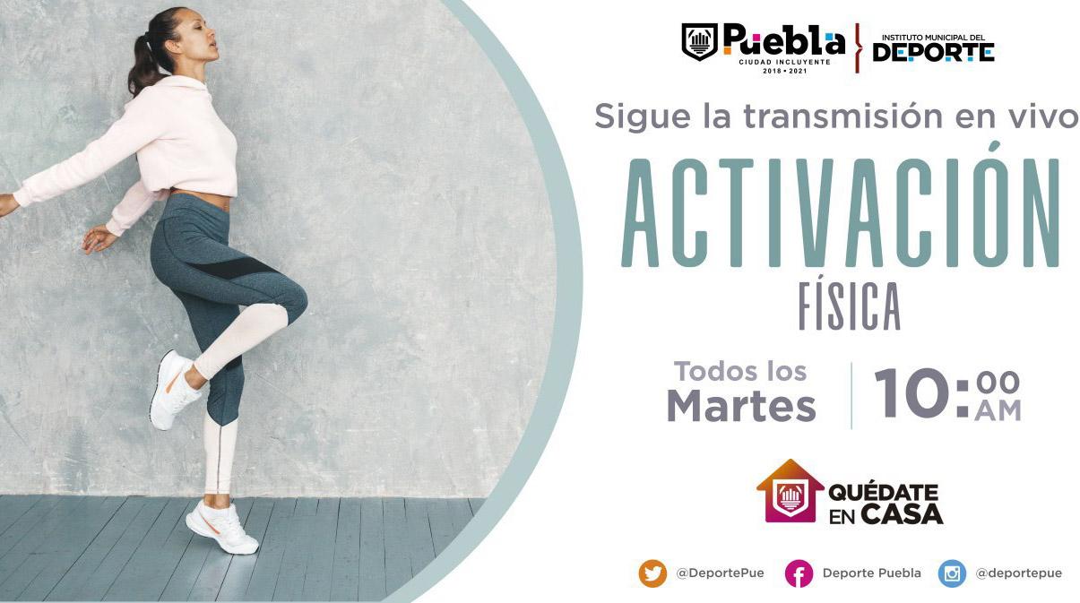 Lanzan cartelera deportiva para disfrutar desde casa en Puebla