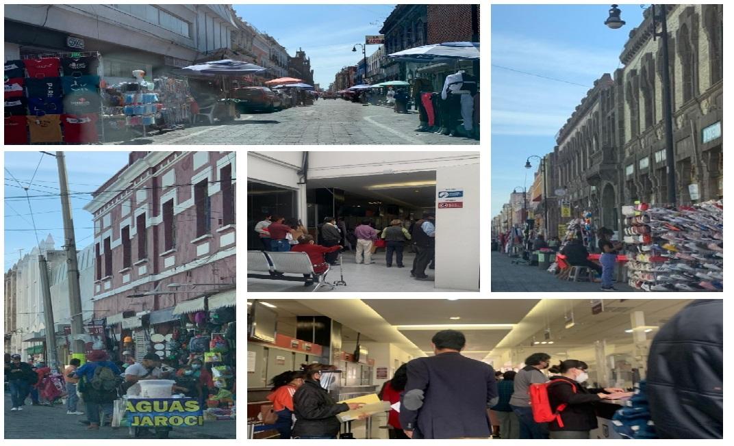Ayuntamiento de Puebla tolera a ambulantes y aglomeraciones en oficinas públicas