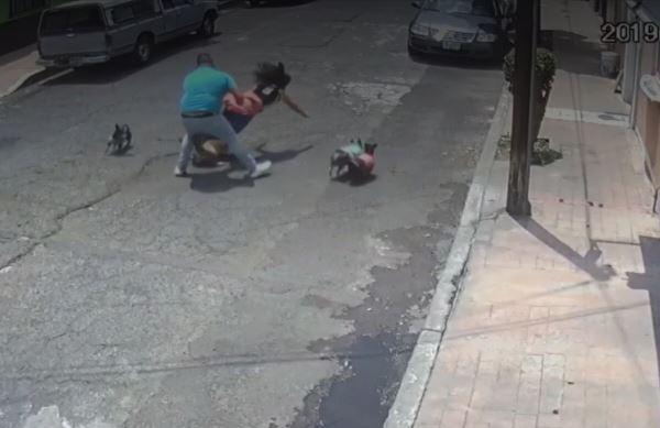 VIDEO Sujeto golpea a mujer que paseaba perrito