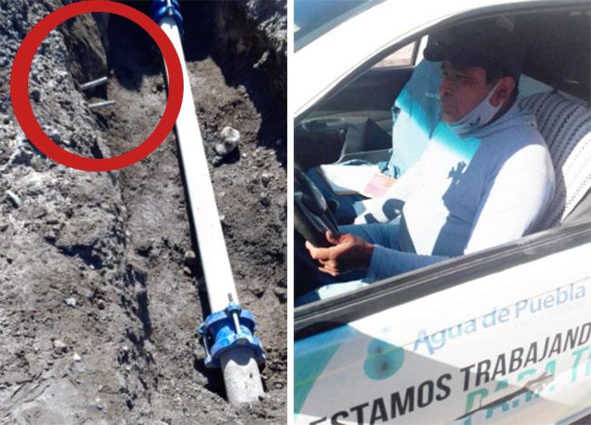 Agua de Puebla repara fuga pero le corta la toma a vecinos de Nueva Aurora