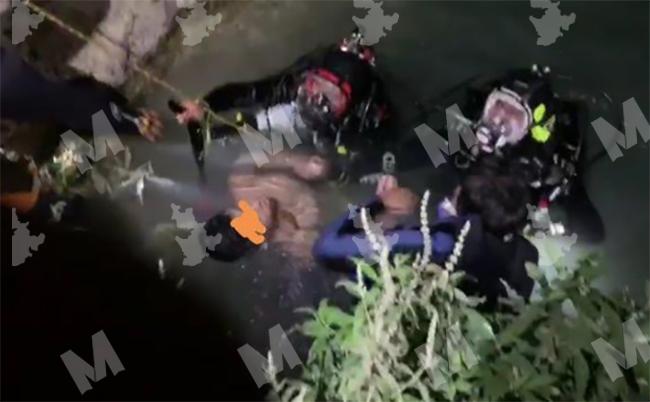 Hombre se ahoga frente a su familia en cascadas de Huehuetlán
