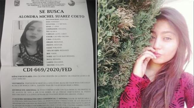 Desaparece Alondra de 17 años en Amozoc