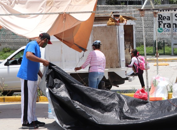 Segom desaloja a ambulantes en bulevar Carmelitas, Puebla