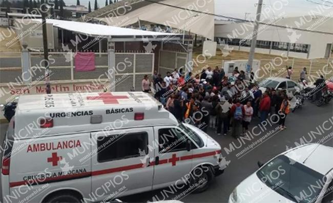Balacera frente a escuela causa pánico en Texmelucan; hay un herido