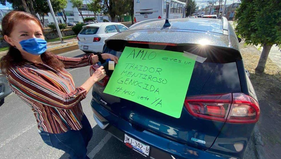 En Tehuacán también protestan por tercera ocasión vs López Obrador