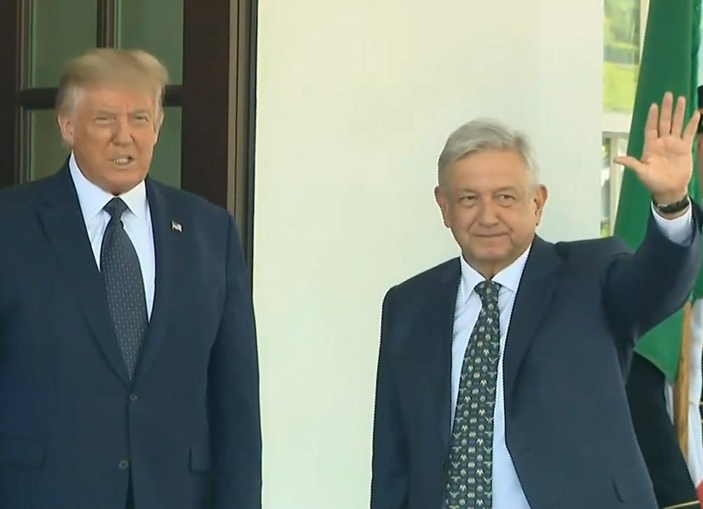 AMLO llega a la Casa Blanca a reunión con Donald Trump