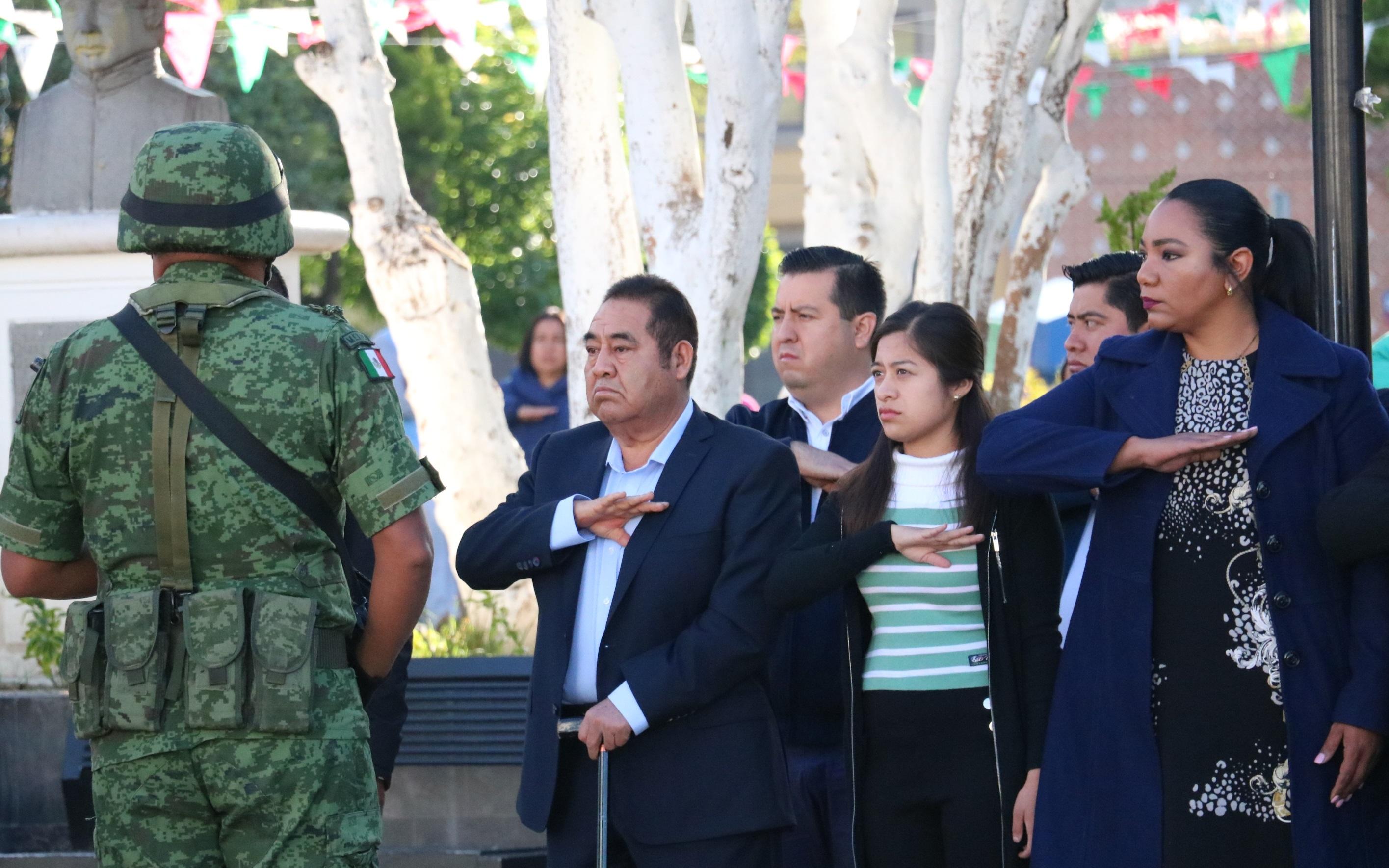 Conmemoran en Amozoc a Niños Héroes de Chapultepec